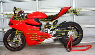 Track/Race Ducati 1199S Panigale modifications – Left